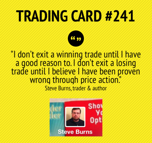 Trading Card #241: How to Exit Trades by Steve Burns